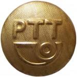 Nieuwe (ca. 1990) uniformknoop van de PTT