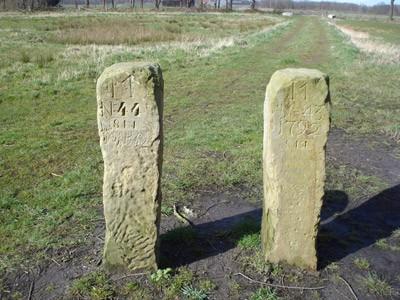 Vanekerstenen aan de Aamsveenweg, Enschede.